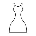 Female dress isolated icon