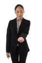 Female Executive Holding Invis...