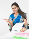 Female executive of indian origin Royalty Free Stock Photos