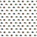 Female eyes pattern