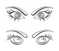 Female eyes vector illustrations fully editable eps file Stock Photo