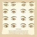Female eyes vintage poster design