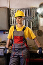 Female factory worker Royalty Free Stock Photo