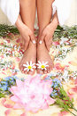 Female feet massage Stock Image