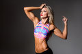Female Fitness Bodybuilder Royalty Free Stock Photo