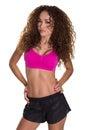 Female Fitness Model In Shorts...