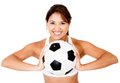 Female football player Royalty Free Stock Images