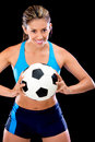 Female football player Stock Photography