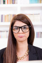 Female geek Royalty Free Stock Photography