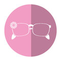 Female glasses flower accessory shadow