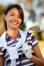 Female golf player Royalty Free Stock Photography