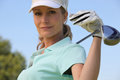 Female golf player Royalty Free Stock Photos