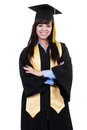 Female graduate Stock Photo