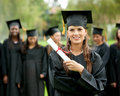 Female graduate Stock Photography