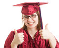 Female Graduate Thumbs Up Royalty Free Stock Photos