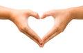 Female Hand Heart Shape On The...