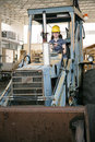 Female Heavy Equipment Operator Stock Photo