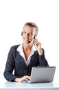 Female helpdesk operator Royalty Free Stock Photo