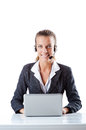 Female helpdesk operator Stock Photos
