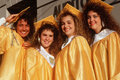 Female high school graduates Royalty Free Stock Photo