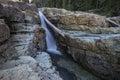 Female Hiker, Lower Myra Falls, Strathcona Provincial Park, Camp Royalty Free Stock Photo