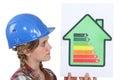 Female housebuilder Royalty Free Stock Photo