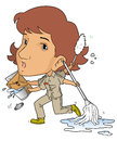 Female janitor Royalty Free Stock Images