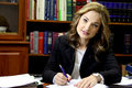 Female lawyer in office Royalty Free Stock Photo