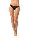 Female legs in black bikini panties Royalty Free Stock Photo