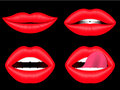 Female lips collection Royalty Free Stock Photo