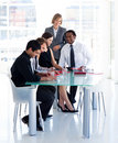 Female manager with her team in office Royalty Free Stock Photo