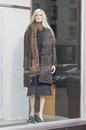 Female mannequin in a shop window