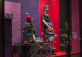 Female mannequins in a shop window