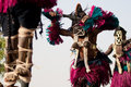 Female mask and the Dogon dance, Mali. Stock Image