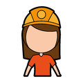 Female miner avatar character