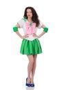 Female Model In Cosplay Costum...