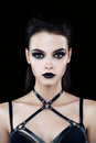 Female model with dark gothic make up Royalty Free Stock Photo