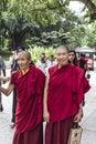 Female monks kuala lumpur malaysia th sept buddhist september malaysia buddhist wandering the streets around Stock Photo