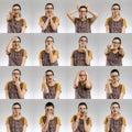 Female Multiple Portraits Royalty Free Stock Photo