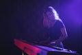 Female Musician Playing Piano ...