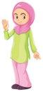 A female Muslim