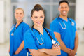Female nurse colleagues beautiful young with on background Royalty Free Stock Images