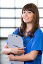 Female Nurse in a modern office Royalty Free Stock Photo