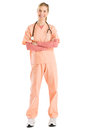 Female Nurse With Stethoscope Standing Arms Crossed Royalty Free Stock Photo