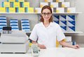 Female pharmacist in pharmacy Royalty Free Stock Photo