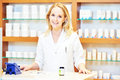 Female pharmacutical chemist portrait Royalty Free Stock Photo