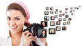 Female photographer Royalty Free Stock Photo