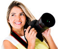Female photographer Royalty Free Stock Photos