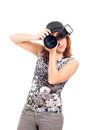 Female photographer portrait Stock Photo