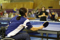Female ping pong player Stock Image
